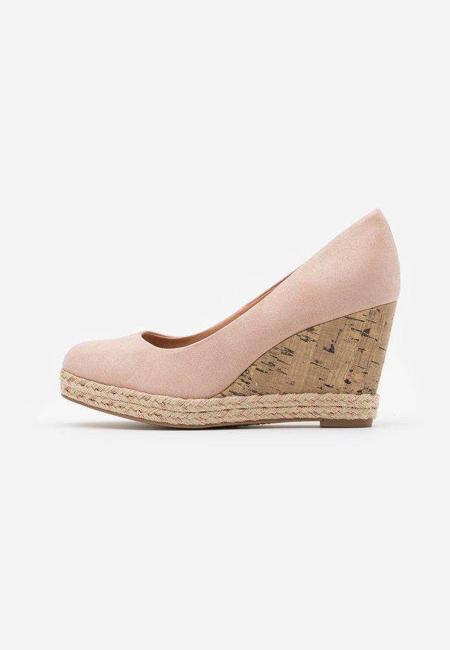OYSTER - Platform heels - oatmeal