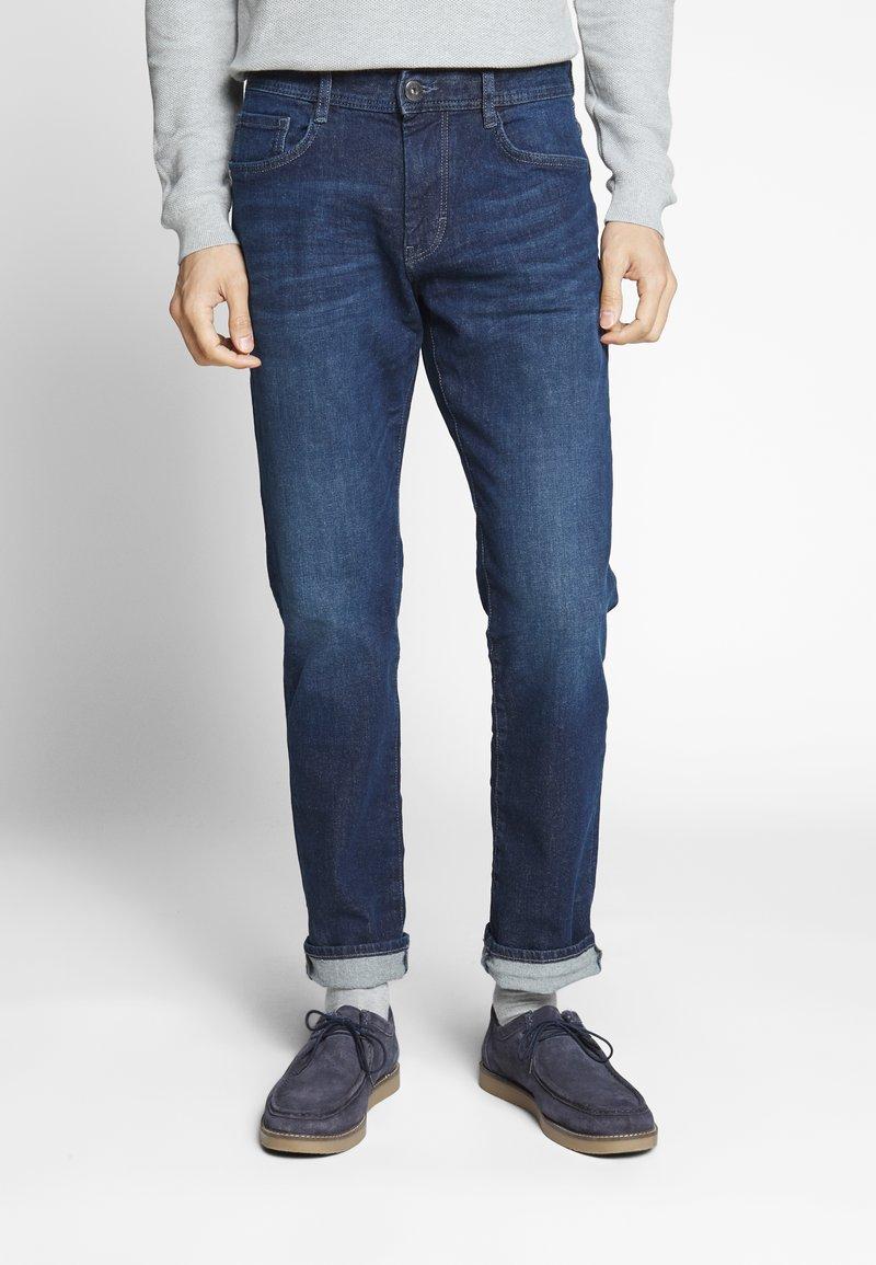 TOM TAILOR - MARVIN - Straight leg jeans - dark stone wash denim blue