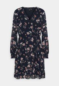 VMZALLIE WRAP DRESS - Day dress - navy blazer/zallie