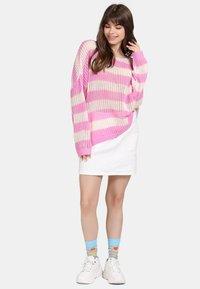 myMo - Jumper - light pink/white - 1