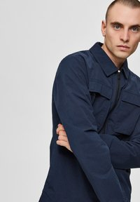 Selected Homme - SLHNILES - Tunn jacka - mottled dark blue - 3