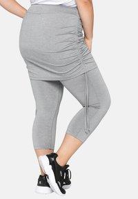 Sheego - Leggings - Trousers - mottled light grey - 2