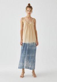 PULL&BEAR - Maxi šaty - dark blue - 0