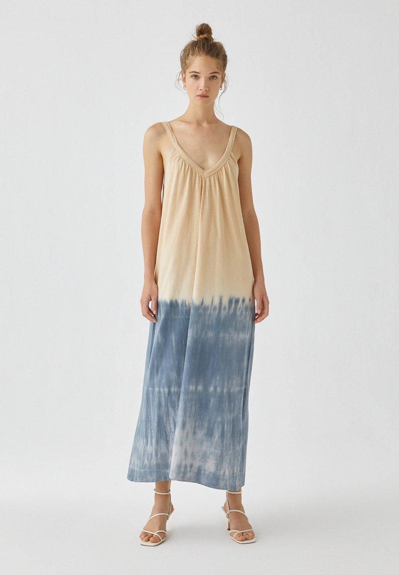 PULL&BEAR - Maxi šaty - dark blue