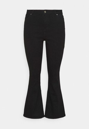 KIM HIGH WAIST - Jeans bootcut - black