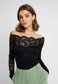 Nly by Nelly - OFF SHOULDER BODY - Blouse - black - 0