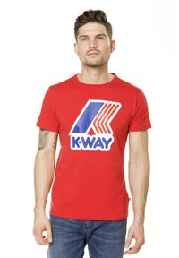 K-Way - PETE MACRO LOGO - Print T-shirt - red - 0
