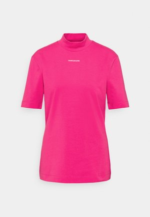 MICRO BRANDING STRETCH MOCK NECK - Print T-shirt - party pink