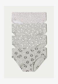 grau - 8683 - light grey blend hedgehog print