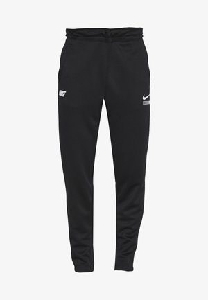 PANT - Tracksuit bottoms - black/light smoke grey/white