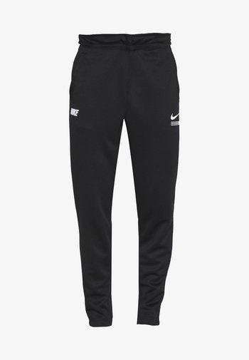 PANT - Tracksuit bottoms - black/light smoke grey/white