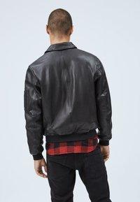 Pepe Jeans - MOORE - Leather jacket - black - 2