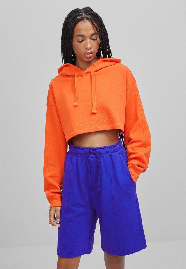 Bluza z kapturem - orange