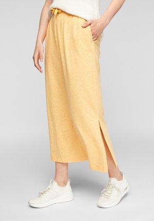 A-line skirt - yellow melange