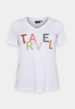 FIERCE STRAIGHT TEE - Print T-shirt - bright white