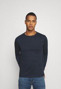 Burton Menswear London - LONG SLEEVE CREW 2 PACK  - Long sleeved top - dark blue - 3