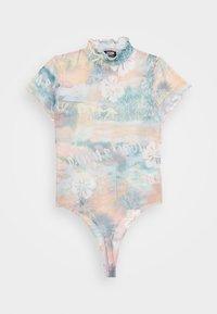 Jaded London - HIGH NECK CAP SLEEVE BODY - Print T-shirt - washed hawaiian - 3