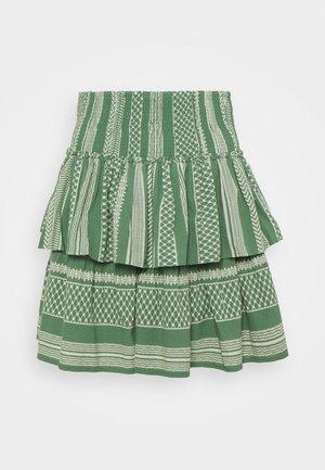 VMDICTHE LAYER SMOCK - Mini skirt - dark ivy/birch