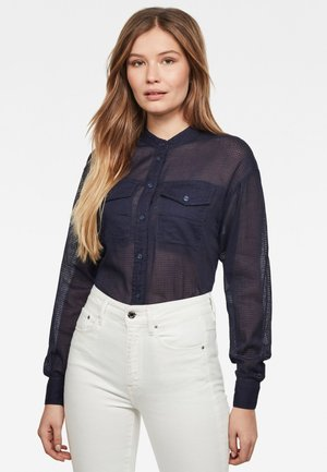 PAROTA CLASSIC BOYFRIEND - Button-down blouse - sartho blue