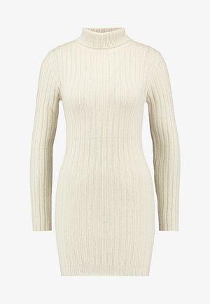 ROLL NECK JUMPER DRESS - Jumper dress - stone