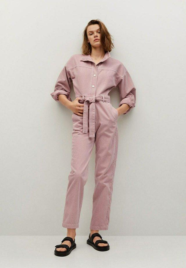 Jumpsuit - světle/pastelově purpurová
