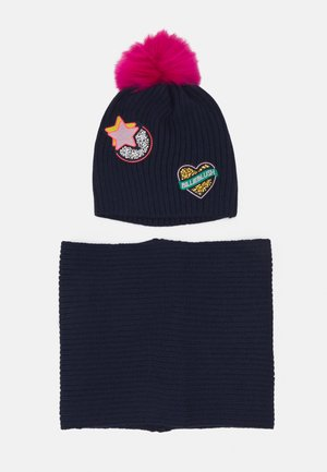 PULL ON HAT SCARF SET - Beanie - navy