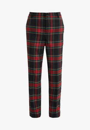 NOVEL SUITING PANT - Kalhoty - black/red