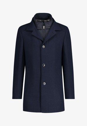 Classic coat - dark-blue plain
