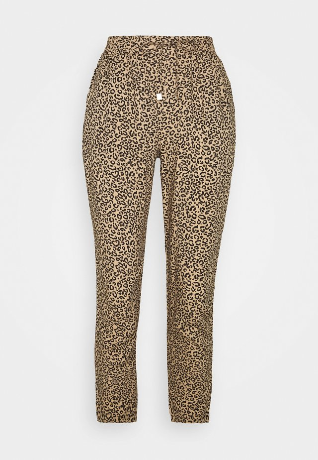 ANIMAL PRINTED JOGGER - Trousers - brown
