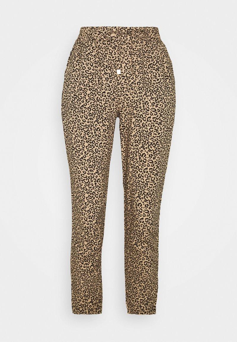 New Look Petite - ANIMAL PRINTED JOGGER - Trousers - brown