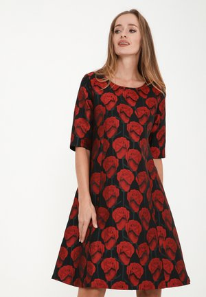 ASIDA - Cocktail dress / Party dress - schwarz, rot