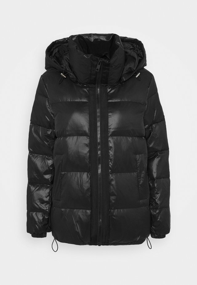 HOODED JACKET - Down jacket - black