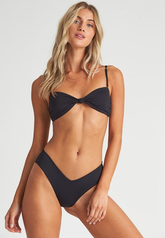 S.S KNOTTED  - Bikini top - black pebble
