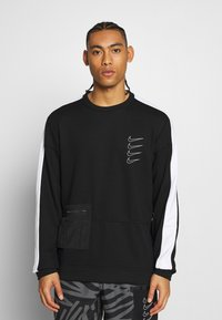 Nike Performance - M NK DRY TOP FLEECE PX - Sweatshirt - black/white - 0