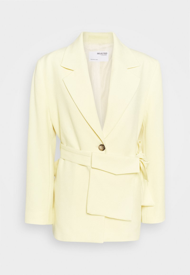 Selected Femme - SLFMALLI LS RELAXED - Blazer - pastel yellow
