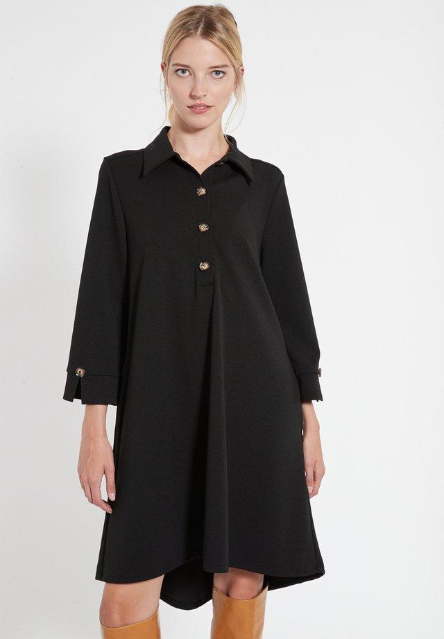 BASSA - Shirt dress - schwarz