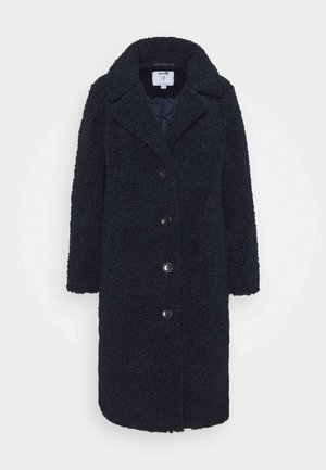 SUPER LONGLINE TEDDY COAT - Winter coat - navy