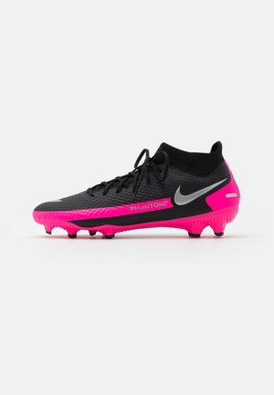PHANTOM GT ACADEMY DYNAMIC FIT MG - Moulded stud football boots - black/metallic silver/pink blast