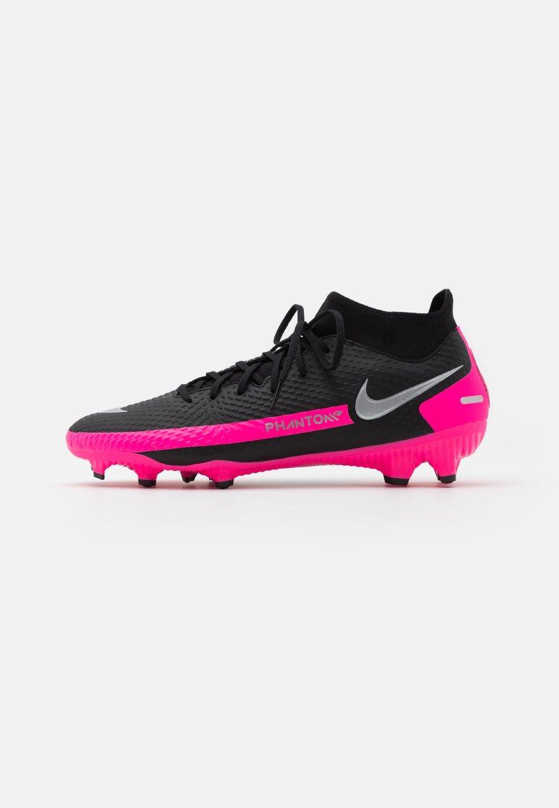 Nike Performance - PHANTOM GT ACADEMY DYNAMIC FIT MG - Moulded stud football boots - black/metallic silver/pink blast