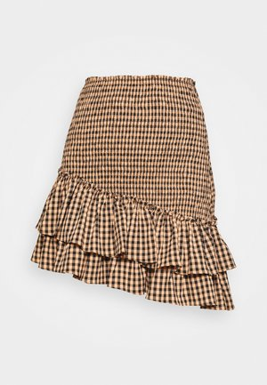 THE CHECKED OUT SKIRT - Minirok - orange