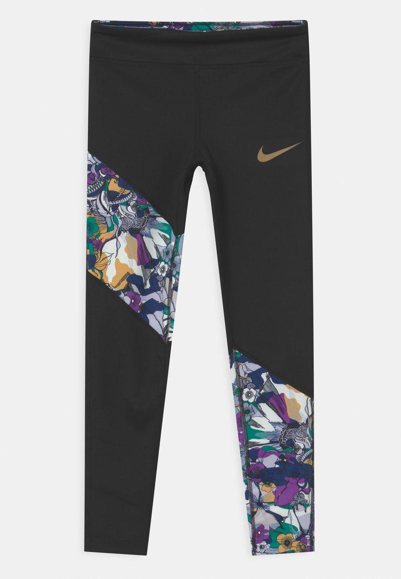 Nike Performance - ONE - Leggings - black/multi-color