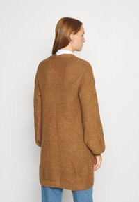 Abercrombie & Fitch - CABLE PUFF SLEEVE CARDI - Cardigan - medium brown - 2