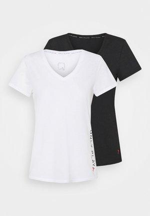 ONPPERFORMANCE V-NECK TEE 2 PACK - Printtipaita - black/white