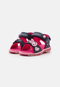 Kappa - Walking sandals - navy/pink - 1