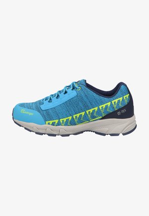 Walking trainers - blue/lime