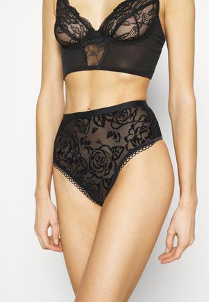 VELVET ROSE SPOTLIGHT HIGH THONG - Thong - black