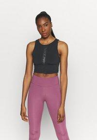 Nike Performance - TANK FEMME  - Funktionsshirt - black/white - 0