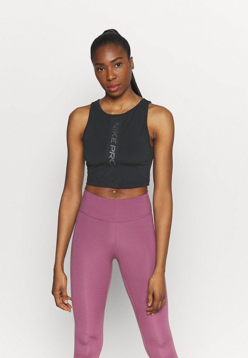 Nike Performance - TANK FEMME  - Funktionsshirt - black/white