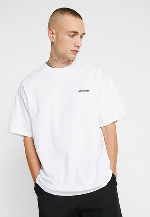 SCRIPT EMBROIDERY - T-shirt - bas - white