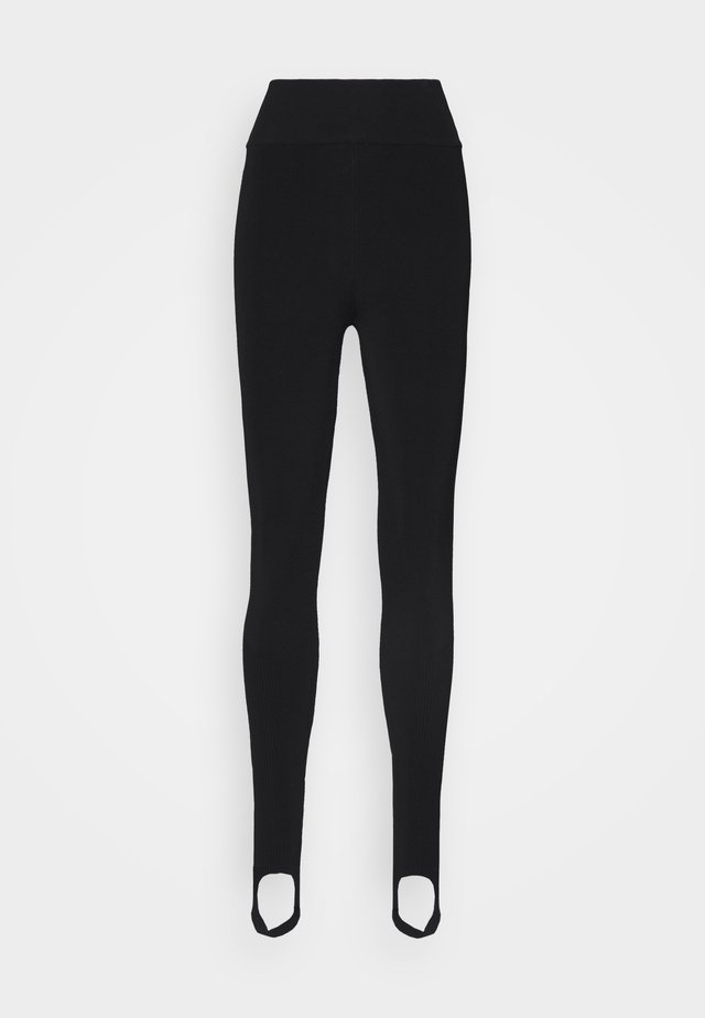 COMPACT SHINE HIGH WAISTED - Legging - black